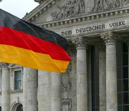 You'll see it in front of the Reichstag. But everywhere else, the German flag is an endangered species.