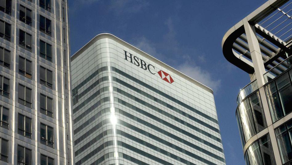 HSBC-Zentrale in London: Das Institut ist in einen schweren Geldwäsche-Skandal verwickelt