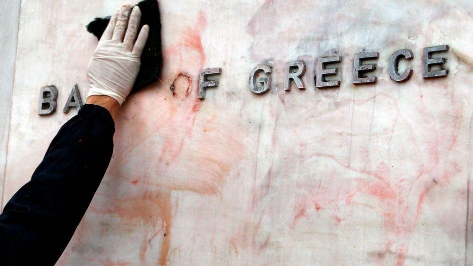 Gebäude der Bank of Greece: Dramatischer Absturz