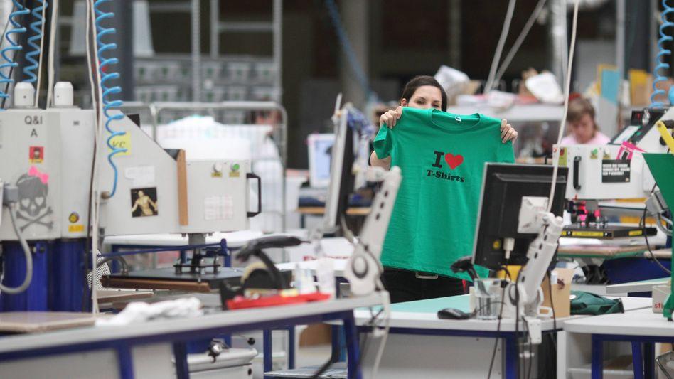 Spreadshirt-Produktion in Leipzig