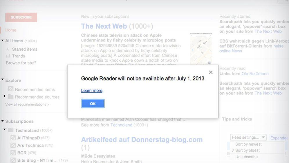 Google Reader: Schluss mit nützlich