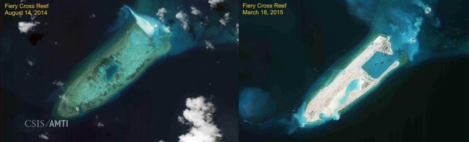 China/ Fiery Cross Reef/ Landebahn