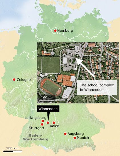 The school complex in Winnenden.