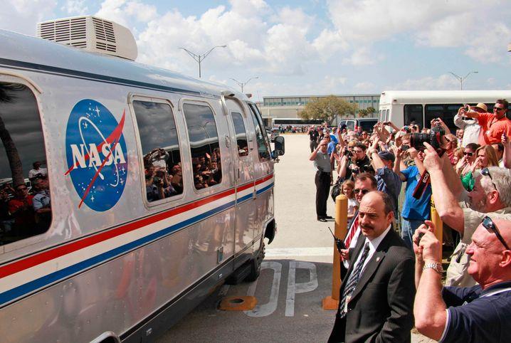 """Museumsreif: Der """"Astrovan"""" der Nasa im Februar 2011"""