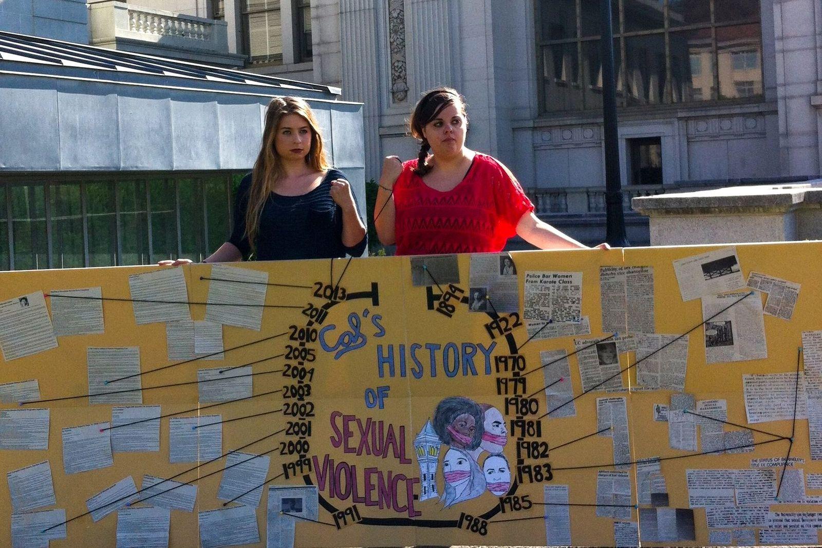 EINMALIGE VERWENDUNG US-Unis / Vergewaltigungen / Sofie Karasek und Studentin