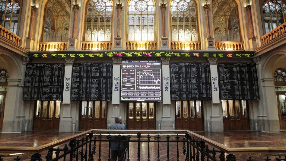 Börse in Madrid: Spanien muss Investoren höhere Zinsen bieten