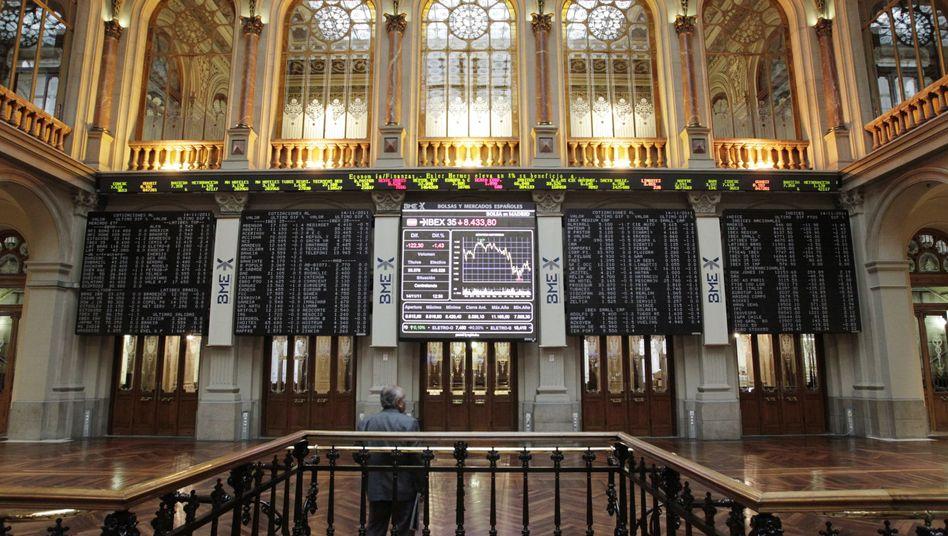 Börse in Madrid: Der Staat nahm weniger Geld auf als erhofft