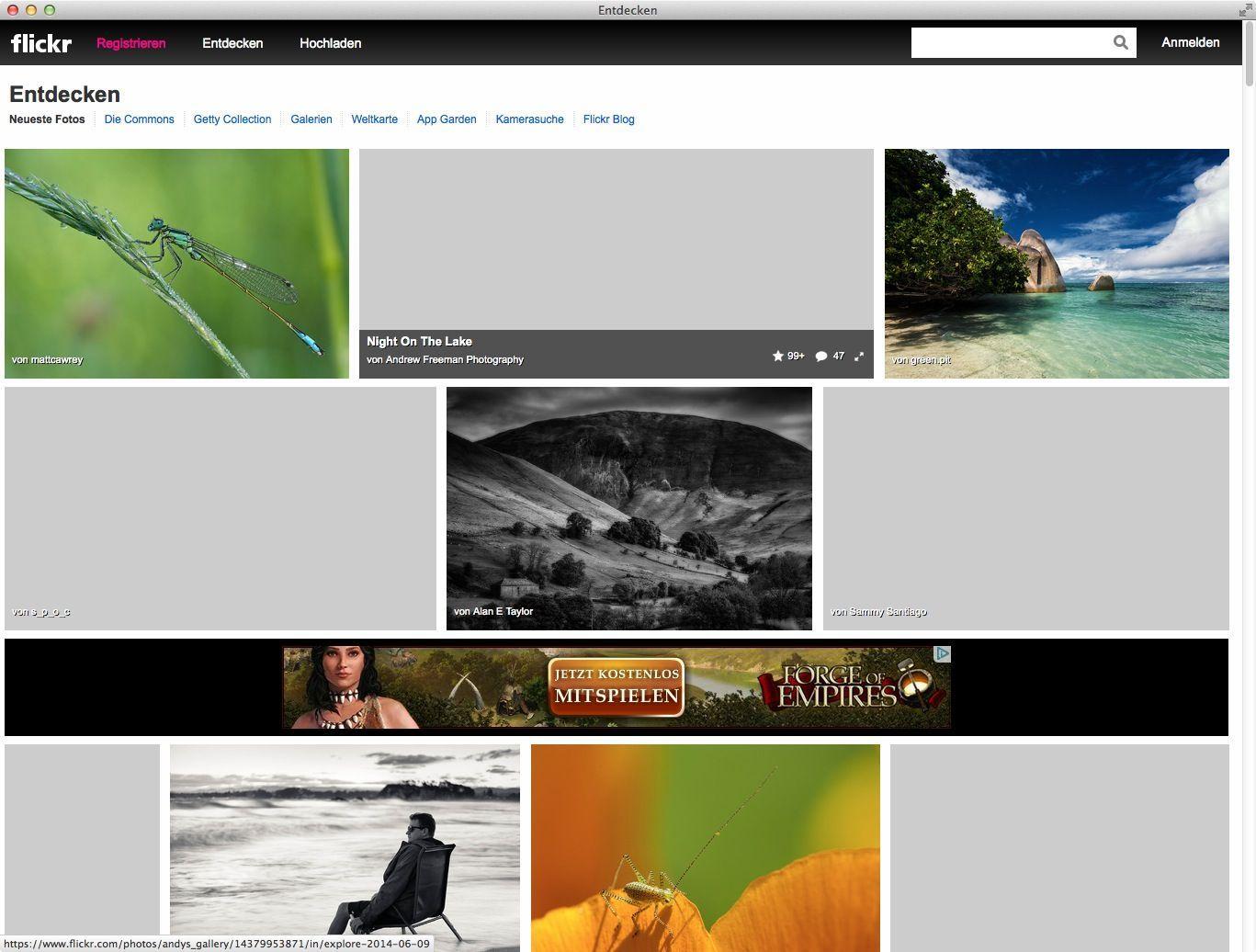NUR ALS ZITAT Screenshot Flickr