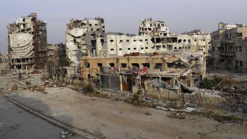Zerstörung in Homs: Friedensprozess soll auf Genfer Konferenz angestoßen werden