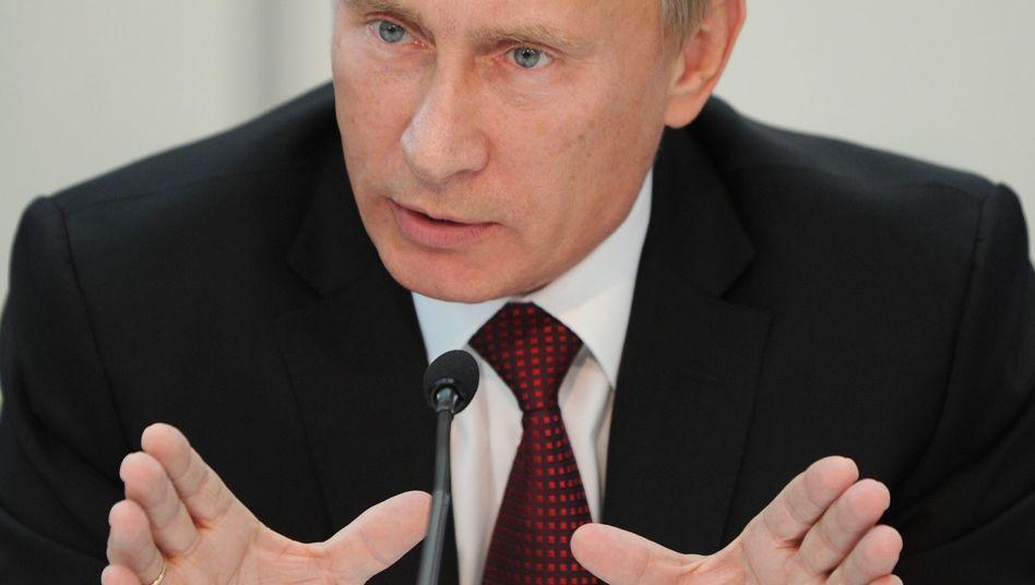 Russlands Premier Wladimir Putin: Er will wieder zwei Drittel der Duma-Mandate gewinnen