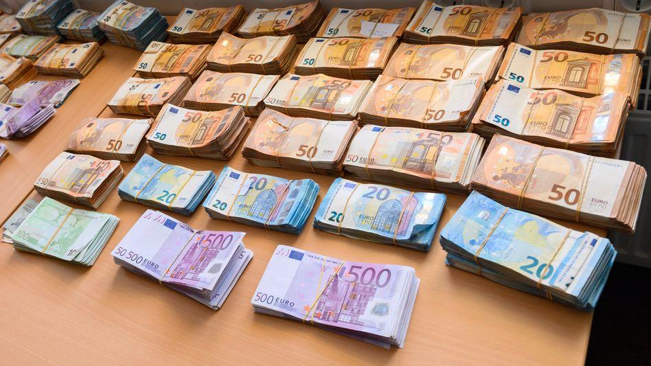 Beschlagnahmte Banknoten