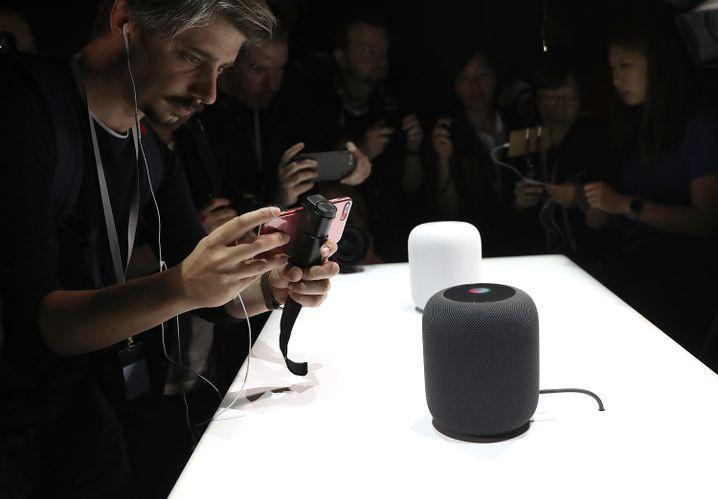 HomePods auf Apples Entwicklerkonferenz WWDC im Juni 2017