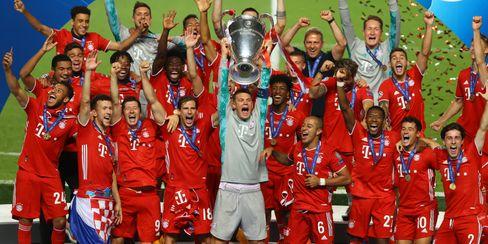 FC Bayern München nach dem Champions-League-Sieg