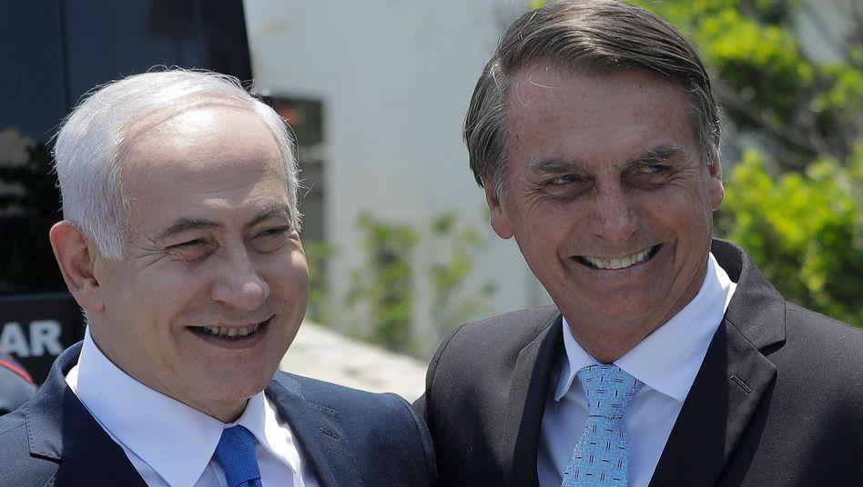Benjamin Netanyahu (links), Jair Bolsonaro