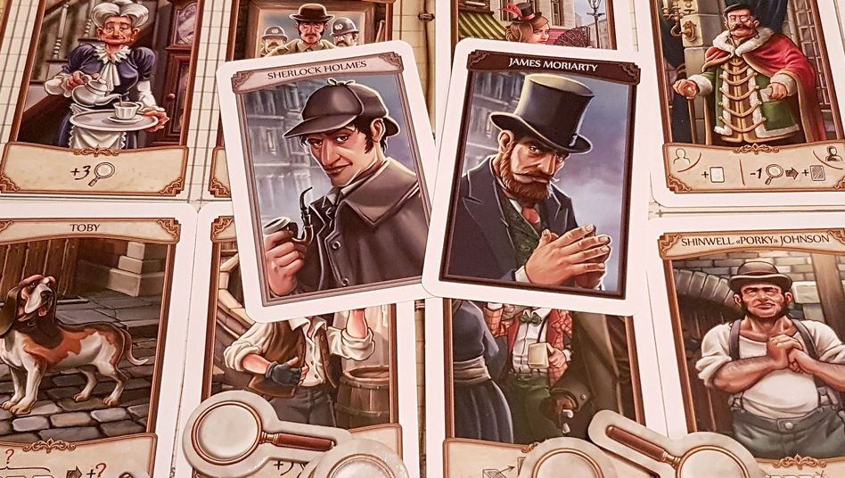 """Kartenspiel """"Holmes: Sherlock gegen Moriarty"""""""