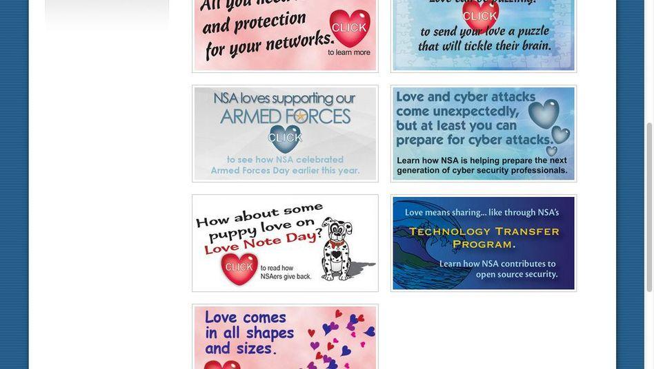 Screenshot der NSA-Botschaften: Liebe und Cyberangriffe kommen unterwartet