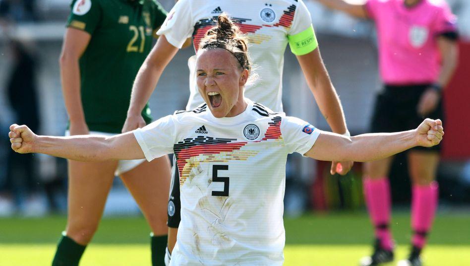 Marina Hegering brachte Deutschland mit ihrem frühen Treffer in Führung