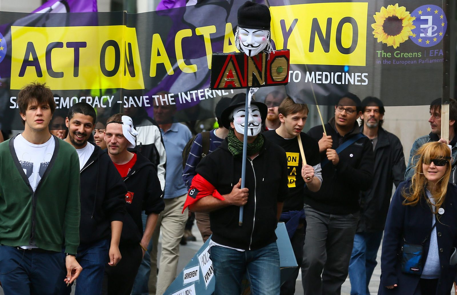 Anti-ACTA protest in Brussels