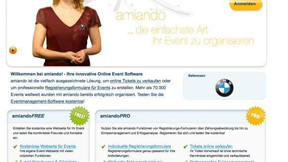 Amiando-Screenshot: Prestigeträchtige Prämie