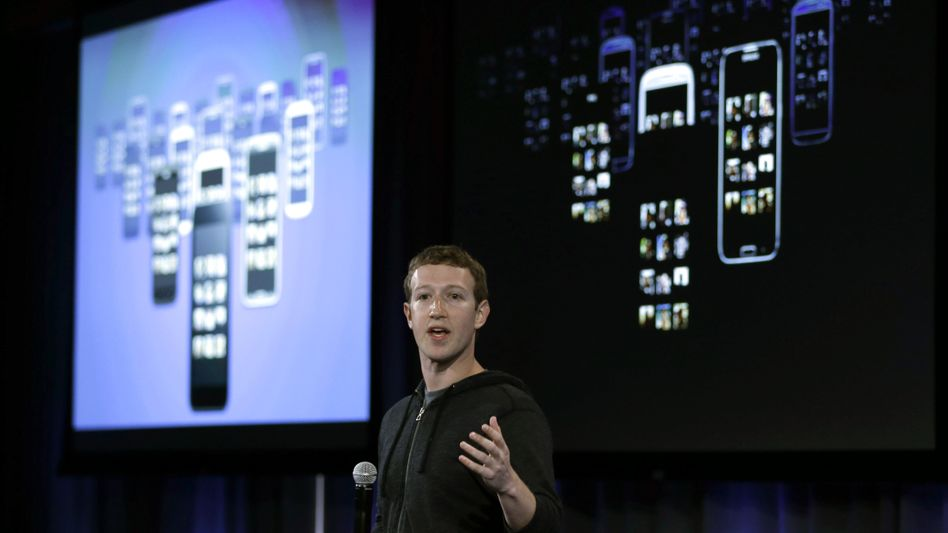 """Facebook-Chef Zuckerberg (2013): """"Ein tolles Quartal"""""""