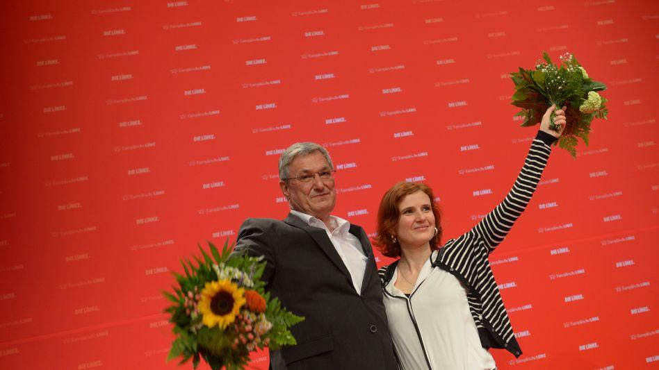 Wiedergewählte Linken-Vorsitzende Riexinger, Kipping