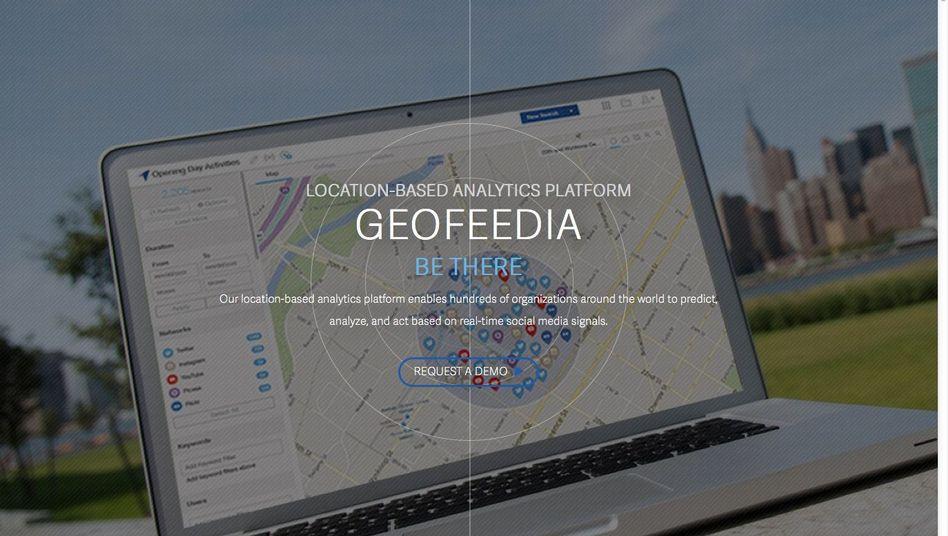 Geofeedia-Webseite