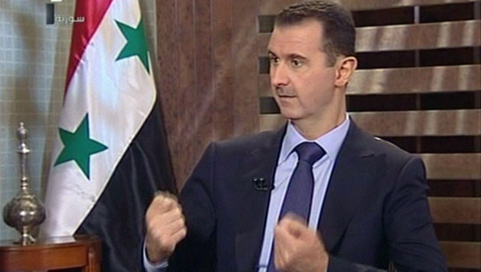 """Assad im Staatsfernsehen: """"Wertlose"""" Rücktrittsforderungen des Westens"""