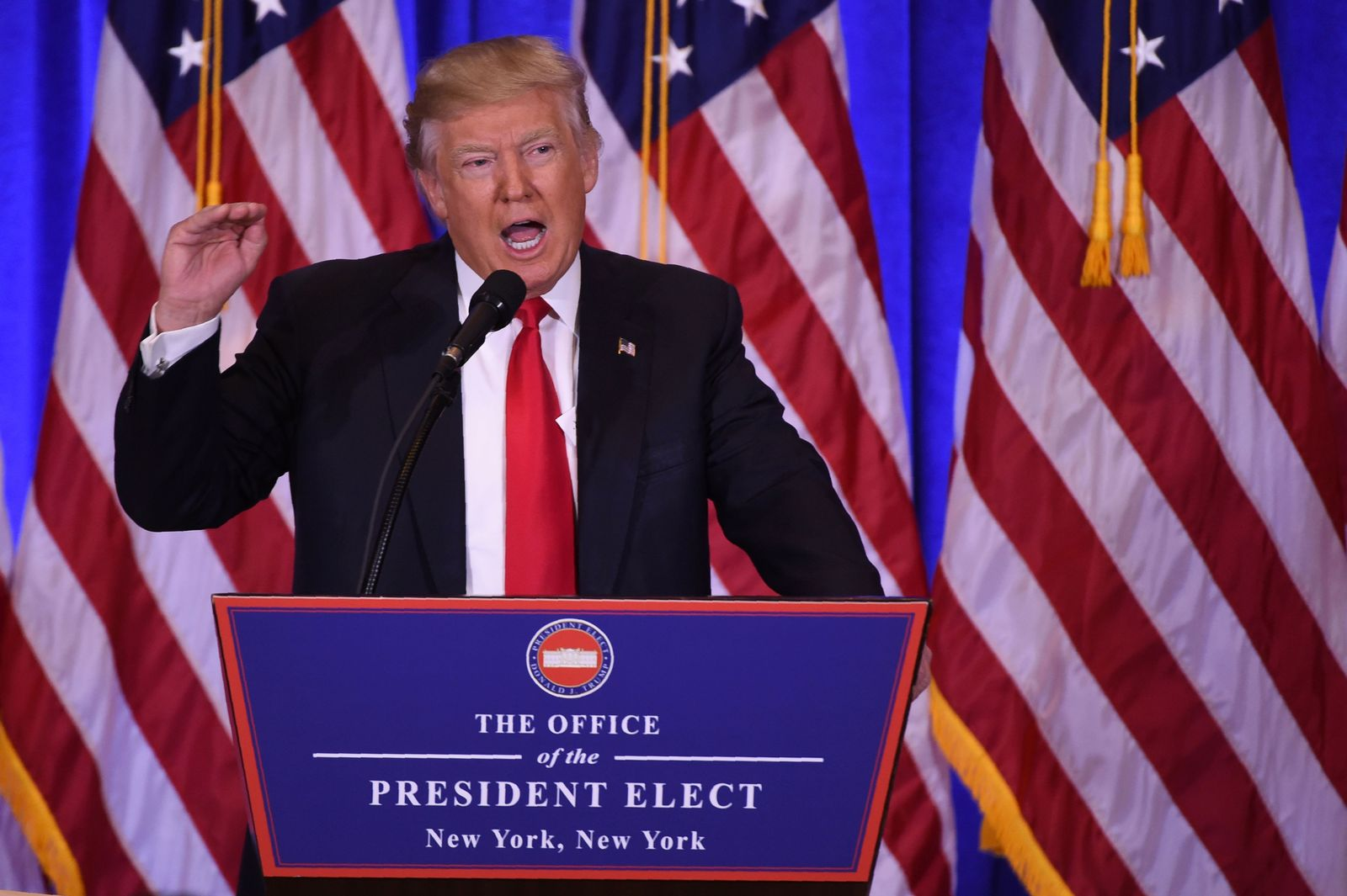 Donald Trump/ Erste PK