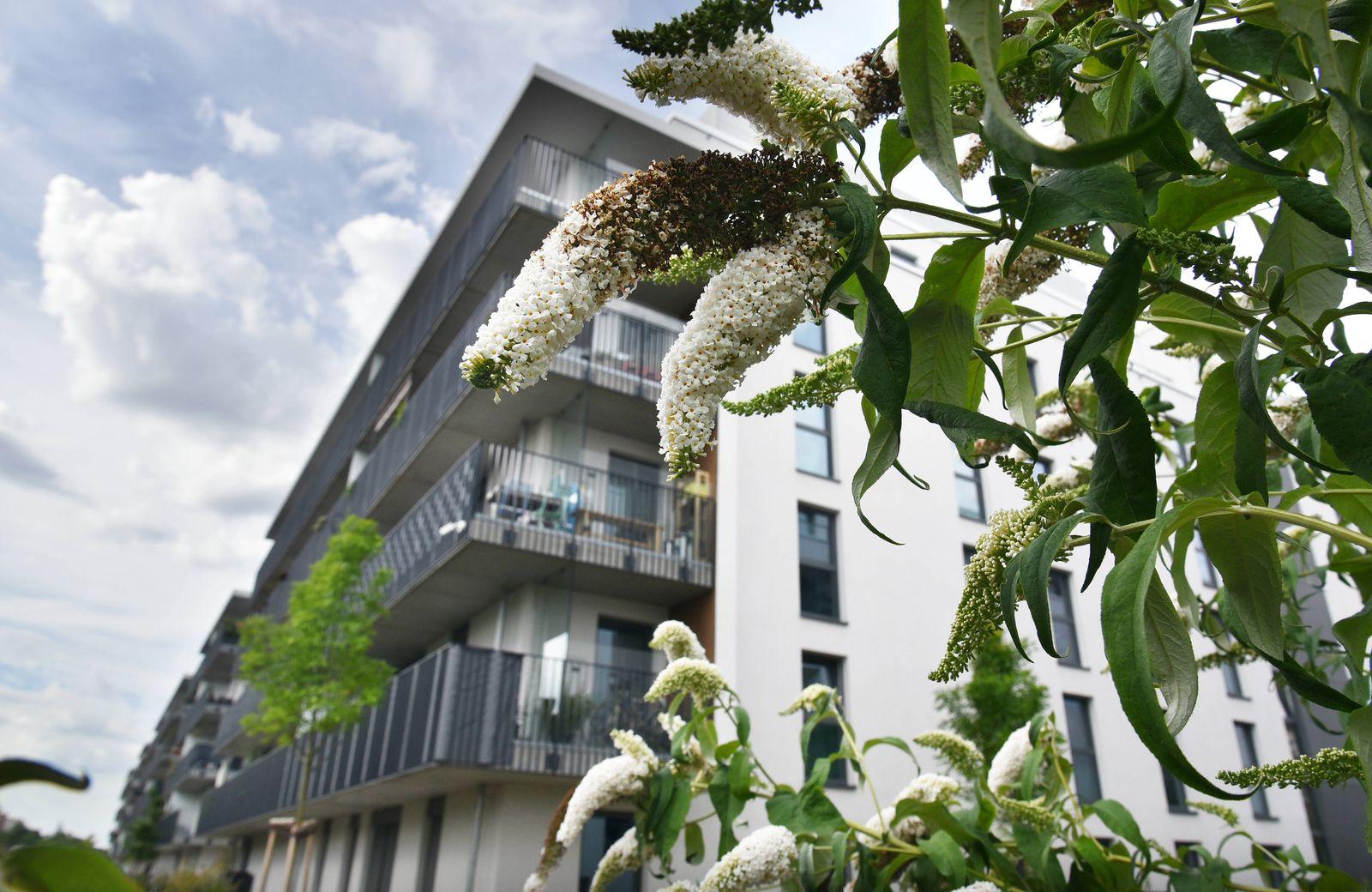 Das neue Stadtquartier an der Bautzener Stra?e in Berlin-Sch?neberg, aufgenommen am 28. Juli 2020. Wohnungsbau, Wohnung