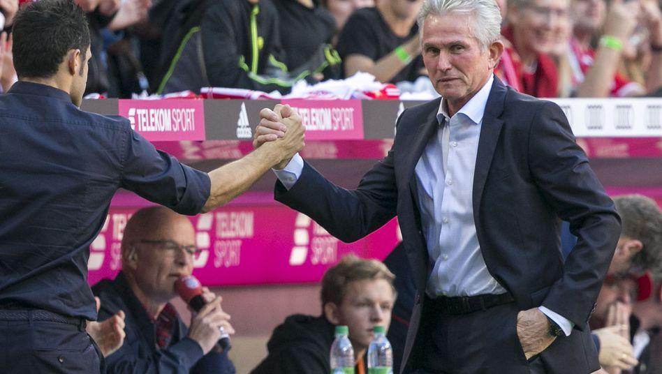 Bayern-Coach Jupp Heynckes in der Allianz-Arena