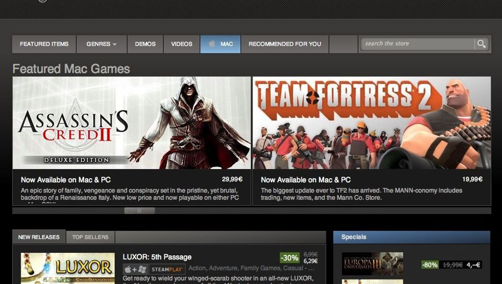 App Stores: Games kaufen per One-Click-Download