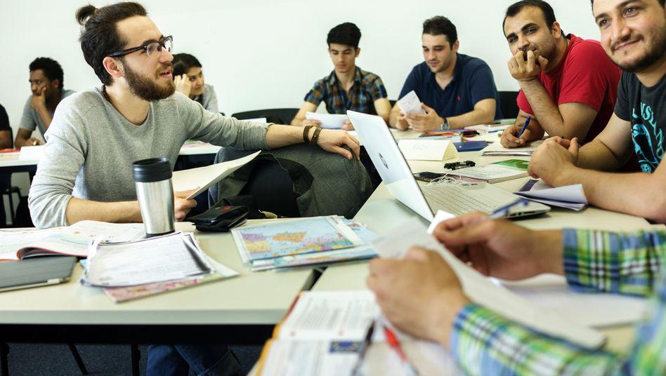 Flüchtlinge in einem Seminar an der Freien Universität Berlin