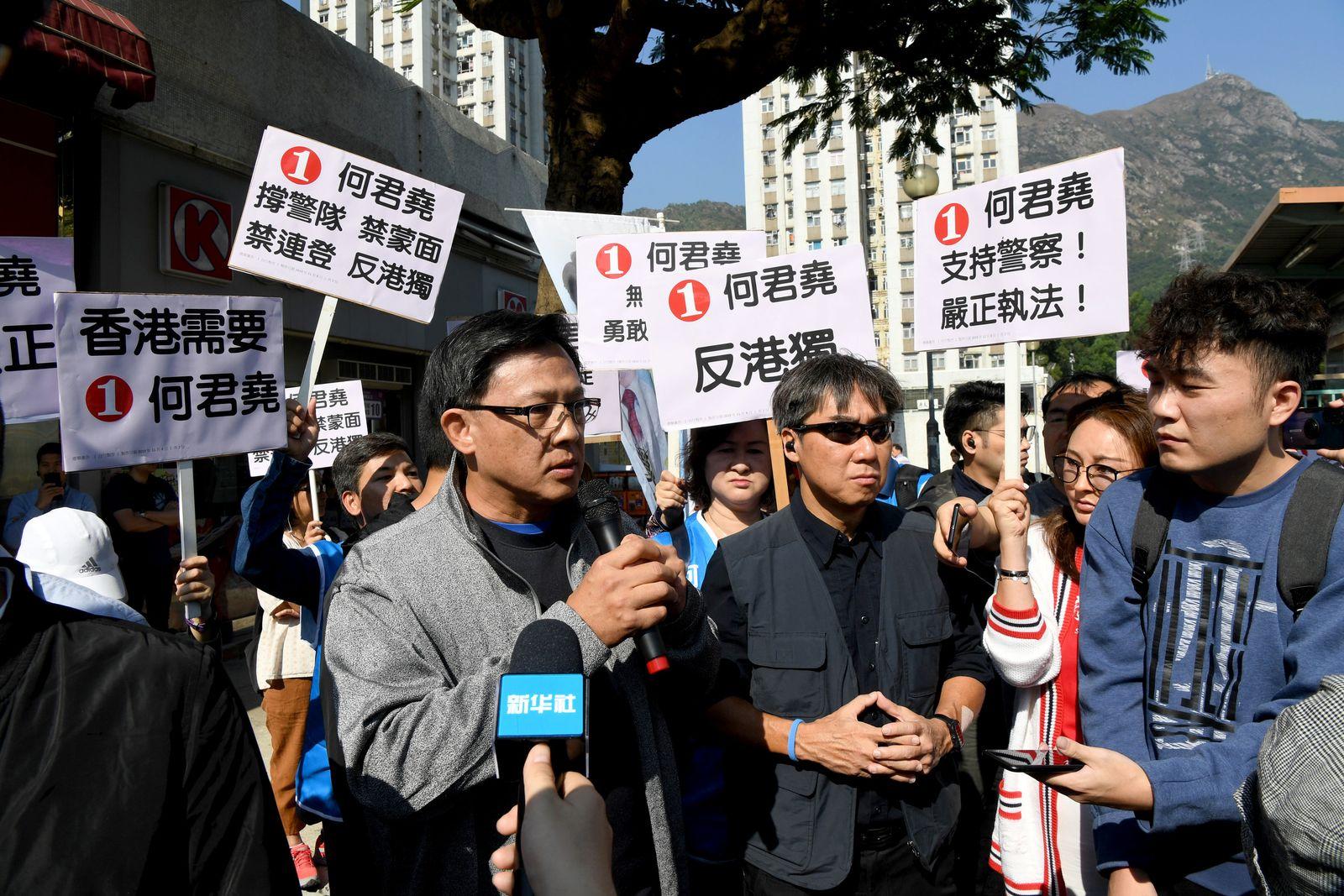 Junius Ho/ Proteste in Hongkong