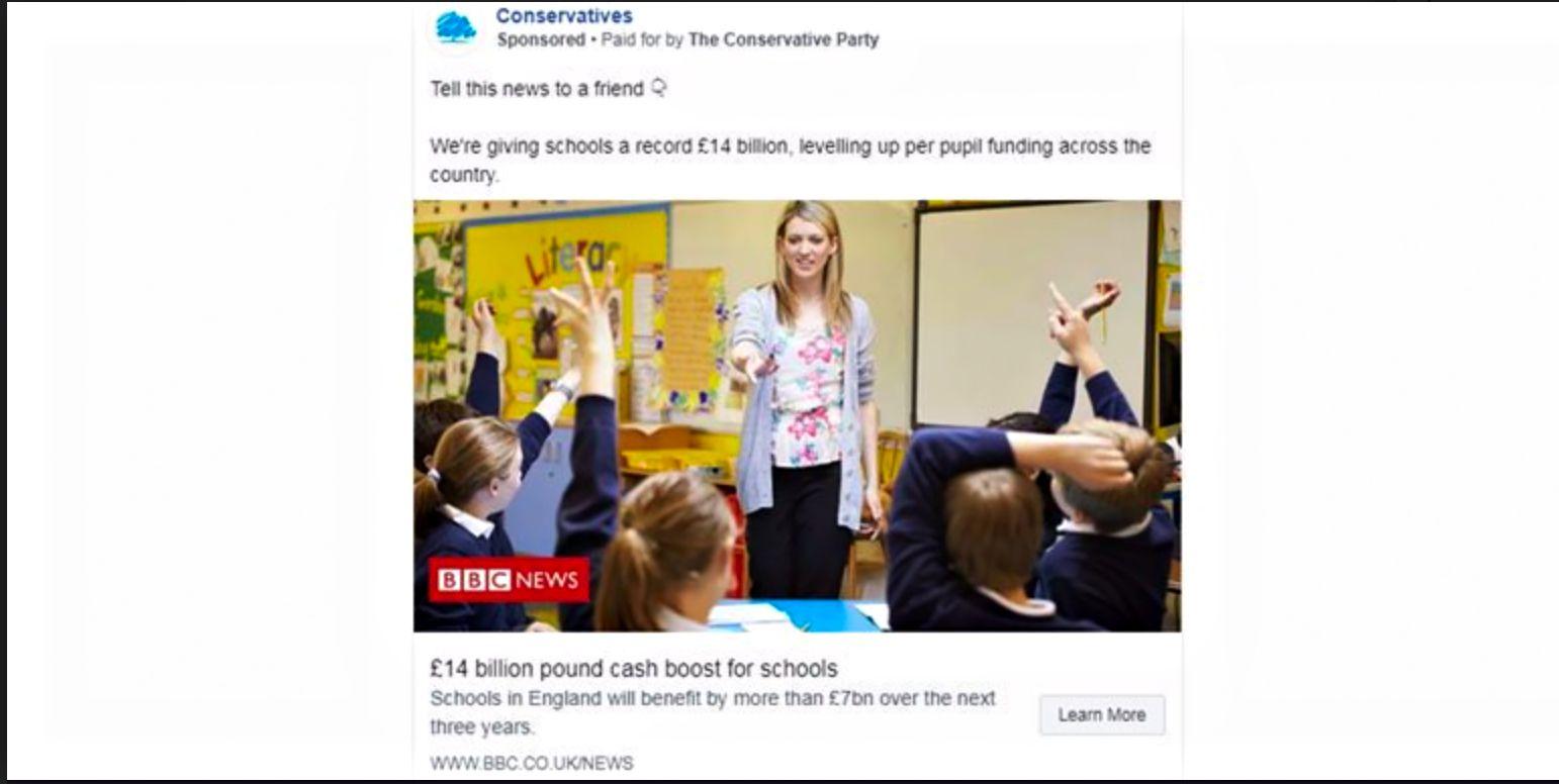 EINMALIGE VERWENDUNG NUR ALS ZITAT Screenshot/ BBC/ Tories