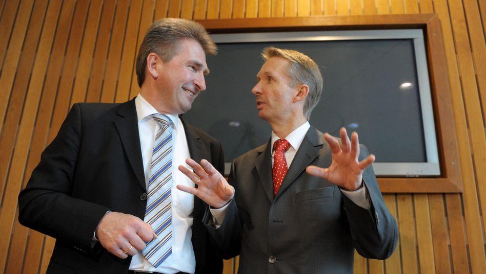 FDP-Landeschef Pinkwart und Fraktionschef Papke: Absage an SPD und Grüne