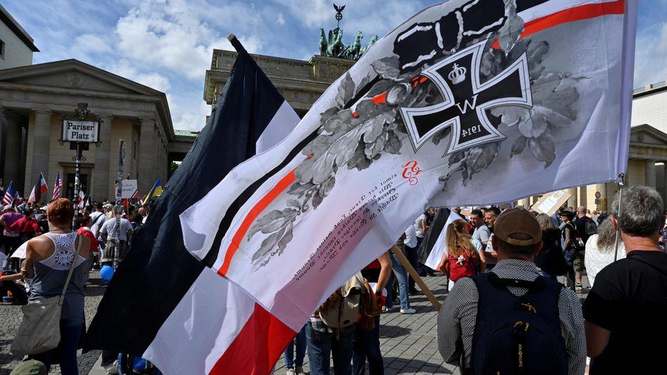 Demonstrierende am 29. August in Berlin