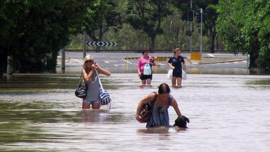 Flutkatastrophe in Australien: Eine Stadt versinkt