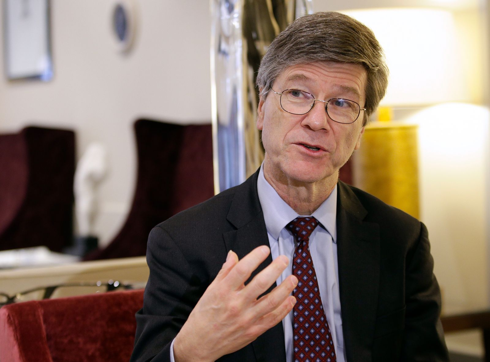 U.S. economist Sachs speaks during an interview with Reuters in Rome