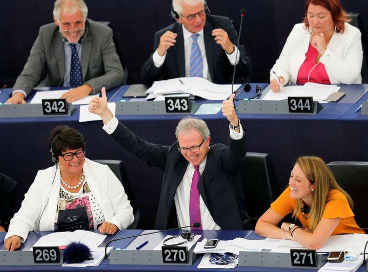 Axel Voss bei einer Abstimmung im EU-Parlament im September 2018