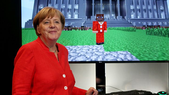 Fotostrecke: Merkel auf der Gamescom 2017