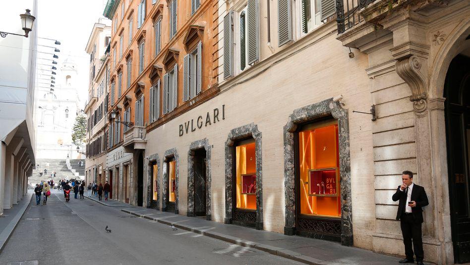 Bulgari-Shop in Rom: Italien hat sich abgeriegelt