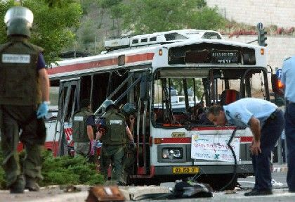 Palestinian suicide bomber Bassam Takruri killed seven people when he blew himself up on a Jersualem bus on May 18, 2003. His family then received $200 a month for over a year, after opening an Arab Bank account.