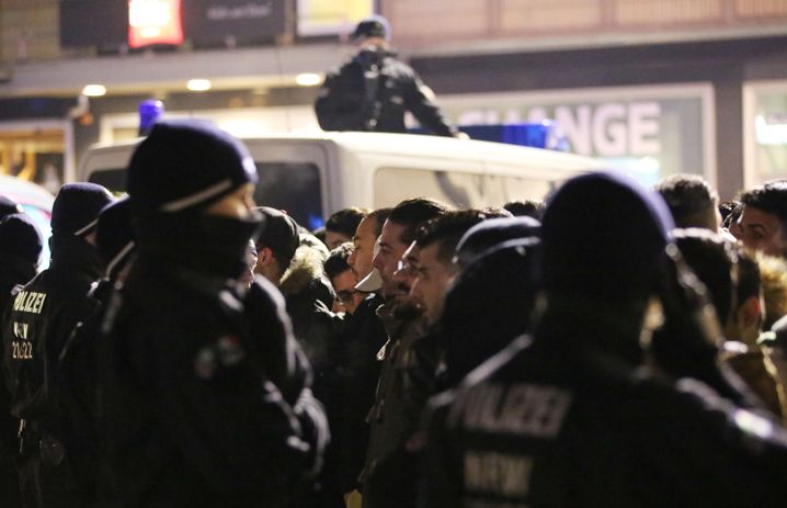 Polizeikontrolle in Köln