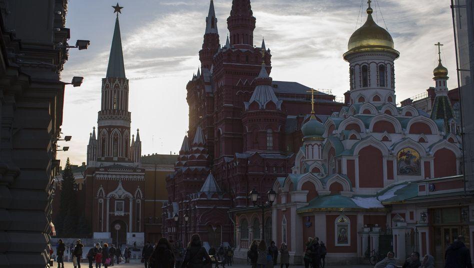 Moskauer Innenstadt: Deutsche misstrauen der russischen Regierung