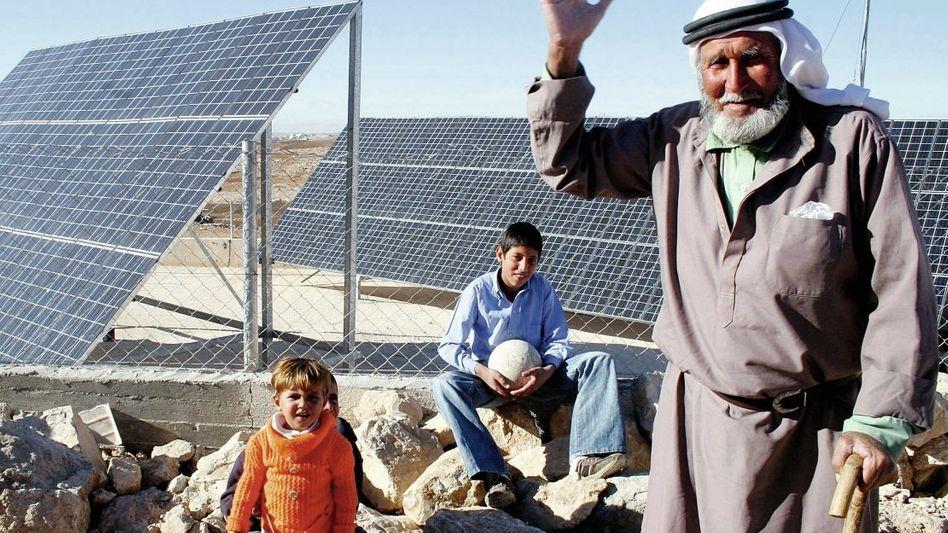 Solaranlage bei Hebron