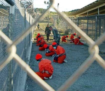 Prisoners at Guantanamo Bay: the final station in a world-wide hunt for terrorists.