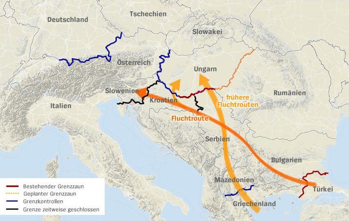Balkanroute: Der beschwerliche Weg der Flüchtlinge