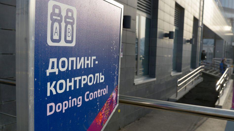Dopingkontrolle bei Winterspielen in Sotschi 2014
