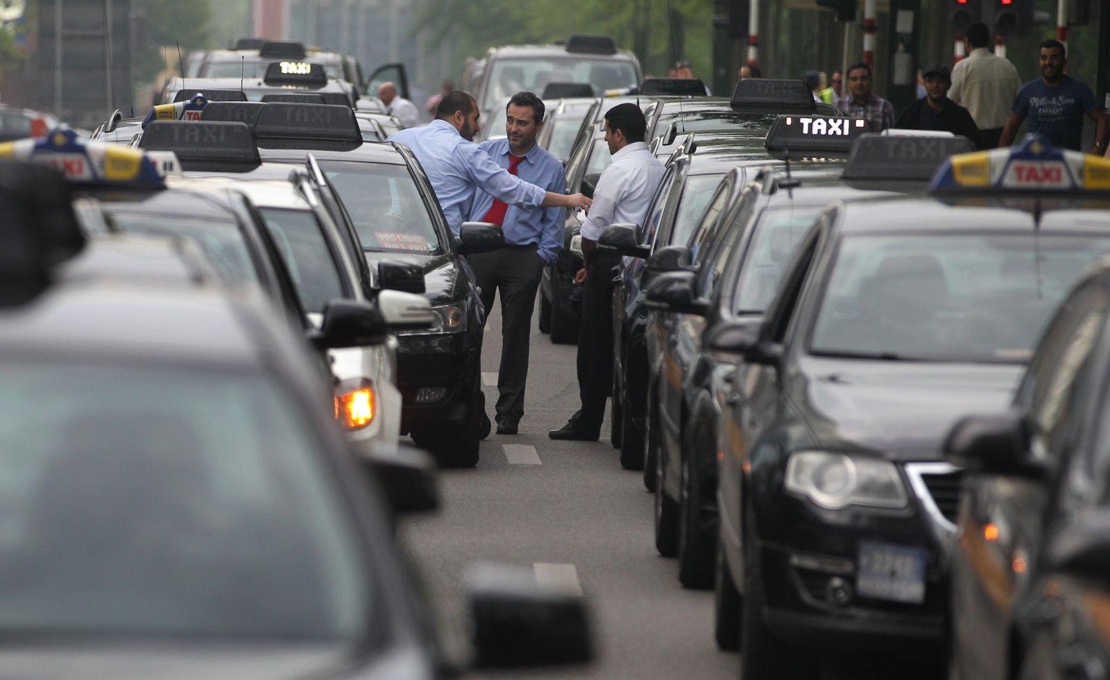 Belgium Taxi Protest
