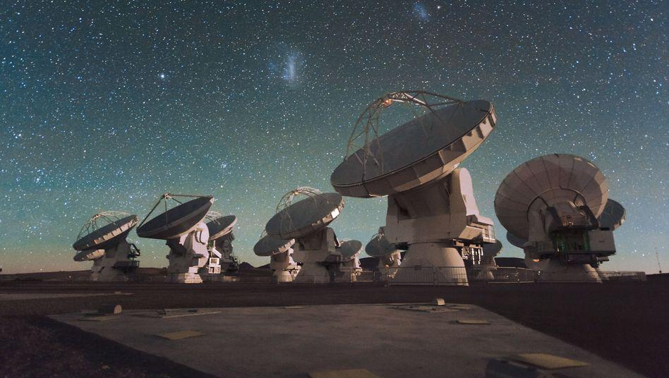 """Teleskopverbund ALMA in Chile (Archiv): """"Volltreffer gelandet"""""""